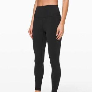 lululemon black wunder under leggings